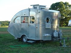 Just A Car Guy : 1935 Airstream Torpedo, the oldest existing Airstream Airstream Campers, Old Campers, Camper Caravan, Retro Campers, Camper Trailers, Vintage Campers, Camper Van, Vintage Rv, Vintage Airstream