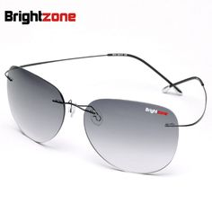 Highest quality New Titanium Frame Gradient Rimless Sunglasses Eyeglasses Men women Driving eyeglasses With Case Oculos de grau mens fashion casual -- AliExpress Affiliate's buyable pin. Click the image to view the details on www.aliexpress.com