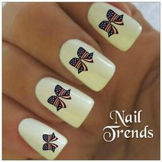 Americana Nail Decal. Patriotic July 4th Memorial by NailTrends, $2.65  https://www.etsy.com/shop/NailTrends  These awesome nail decals are being donated to the FFCS We Heart Vets event!