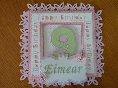 9th Birthday card, cut with Brother Scan n Cut