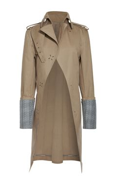 Shop Cutaway Trench With Extended Lining Cuff by Alexander Wang for Preorder on Moda Operandi