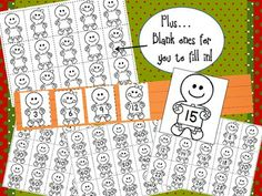 "FREE when you ""like"" my facebook page. https://www.facebook.com/TheBarefootTeacher GINGERBREAD COUNTING & SKIP COUNTING SENTENCE STRIP ACTIVITY - counting by ones, twos, threes, fours, and fives...PLUS...one blank one for you to write in whatever you want them to practice!"