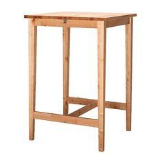 IKEA - BJÖRKUDDEN, Bartisch, Massivholz ist ein strapazierfähiges Naturmaterial.Mit 2 praktischen Haken zum Aufhängen von Taschen o.Ä.