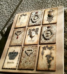 Decoupage Tins, Decoupage Vintage, Vintage Crafts, Iron Orchid Designs, Rustic Crafts, 3d Wall Art, Stencil Art, Polymer Clay Art, Tile Art