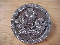 Vintage Antique Metal Button Flowers Design | eBay