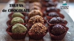 Recetas de trufas de chocolate