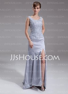 Mother of the Bride Dresses - $142.69 - A-Line/Princess Scoop Neck Sweep Train Charmeuse Mother of the Bride Dress With Lace Beading (008016261) http://jjshouse.com/A-Line-Princess-Scoop-Neck-Sweep-Train-Charmeuse-Mother-Of-The-Bride-Dress-With-Lace-Beading-008016261-g16261