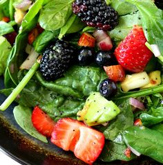 Want something fruit that isn't apples? Try this berry and spinach salad. It's light and refreshing—the perfect respite from all that holiday decadence. Get the recipe here. Per one serving: 137 calories Kim Lee via kimscravings.com  via @AOL_Lifestyle Read more: http://www.aol.com/article/lifestyle/2016/11/03/17-healthy-holiday-side-dishes-under-250-calories/21598012/?a_dgi=aolshare_pinterest#fullscreen