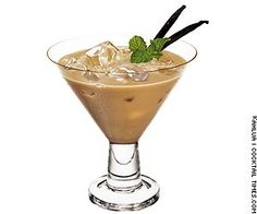 Cappuccino Cocktail Ingredients: - 1 1/2 oz vodka - 1 oz coffee liqueur - 1 oz light cream Mix all ingredients in a cocktail shaker with ice. Strain into a chilled martini glass.