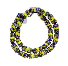 Millefiori, Disk Beads Chain #1309 | Chains | Jewelry — Deco Art Africa - Decorative African Art