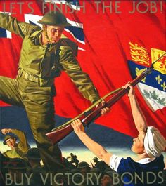 Woods, Rex. Let's Finish The Job. Cover illustration for Canadian Home Journal, May 1943.