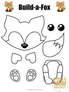 Click and get these adorable woodland or arctic fox templates to make this free and easy build-a-fox craft. He is perfect for kids of all ages; including preschoolers, kindergartners and toddlers! #FoxCrafts #FoxCraftsForKids #FoxTemplates #SimpleMomProject