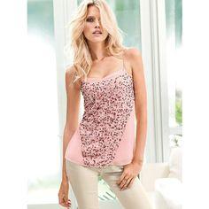 Victoria's Secret New! Sequin Tank ($88) via Polyvore