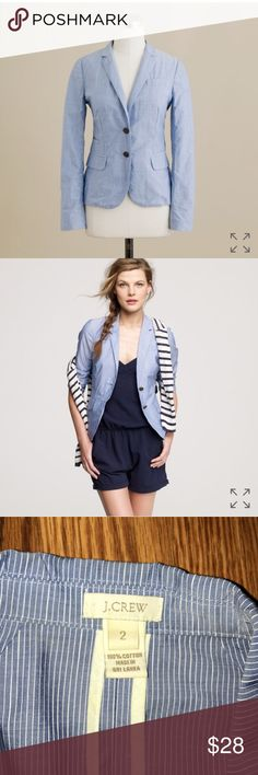 J. Crew Schoolboy Blazer in Summer Stripe Perfect light weight spring and summer layer! Looks especially great with white denim jeans, shirts, or dresses. Worn maybe once or twice. J. Crew Jackets & Coats Blazers