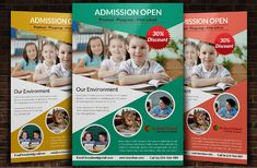 a very intelligent and educated higher education flyer template
