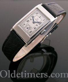 1930s rectangular steel vintage Omega watch (4266) Vintage Omega, Vintage Rolex, Vintage Watches, Luxury Watches, Rolex Watches, Watches For Men, Skeleton Watches, Fashion Bracelets, Fashion Jewelry