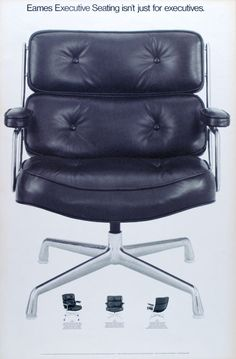 Eames Executive/Lobby Chair | Eames Office See this and more great graphics and information on the #Eames Office website