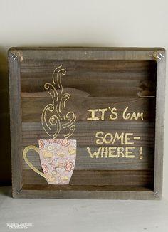 Easy Coffee Bar Art #ad