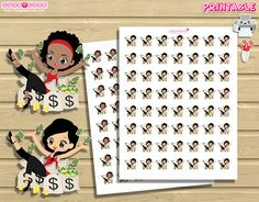 Chic Pay day, Printable Planner Stickers for use with your Happy Planner, Recollections, Travellers notebook, etc ❤