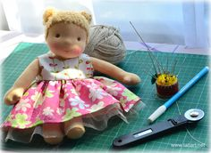 waldorf doll by tatiart Waldorf Dolls, Summer Dresses, Toys, Activity Toys, Summer Sundresses, Clearance Toys, Gaming, Summer Clothing, Games