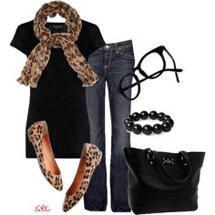Leopard (minus the glasses) - Click image to find more Women's Fashion Pinterest pins
