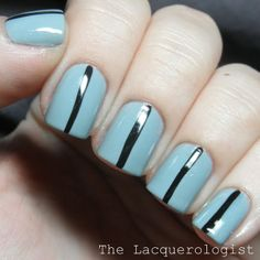 The Lacquerologist: Simple Graphic Stripes featuring Essie!