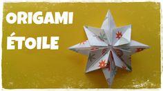 Décoration de Noël - Comment faire une ÉTOILE de Noël en Papier - ÉTOILE en Origami