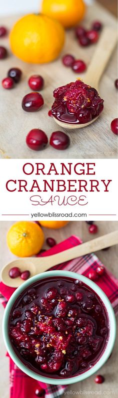 Orange Cranberry Sau