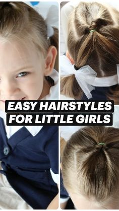 Easy Little Girl Hairstyles, Easy Hairstyles, Toddler Hairstyles, Girl Hair Dos, Stop Hair Loss, Hair Loss Remedies, Synthetic Hair, Hair Designs, Natural Hair Styles