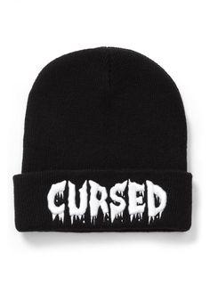 4779d7e1f24 Killstar Cursed Gothic Horror Knitted Unisex Beanie Hat Black for sale  online
