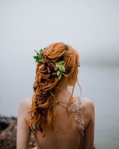 Celtic Bride is a Vancouver Island Wedding Inspiration Editorial filled with colour, beauty and a wonderful hair wreath. Celtic Hair, Viking Hair, Wedding Hair And Makeup, Hair Makeup, Red Wedding Hair, Red Bridal Hair, Hairstyle Wedding, White Bridal, Red Hair Brides