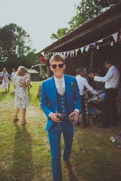 FESTIVAL BRIDES | James and Vicky's DIY Festival Wedding - Wedfest! Dapper groom!