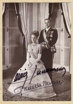 Grace de Monaco & Fürst Rainier-original signierte Autogrammkartr