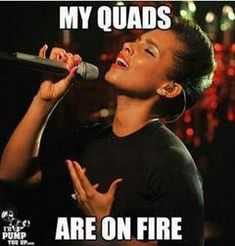 On leg day. @Jenny Rose @Gina Schmidtlein  -oh gosh I will be singing this from now on when my legs burn!!!
