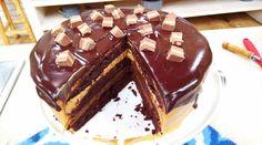 Torta maní con chocolate