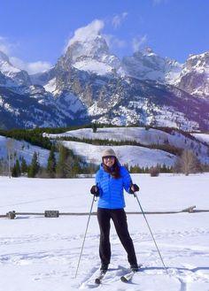 Cross Country Skiing below the Tetons