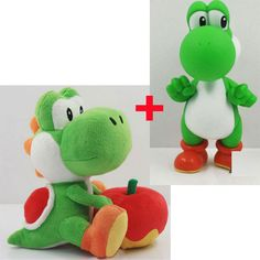 "Find More Movies & TV Information about 2 PCS New Super Mario Bros The Dinosaur Yoshi and Apple Plush Doll with PVC Action Figure Toys Approx 5"" 7"",High Quality apple macbook screen protector,China doll tent Suppliers, Cheap apple ipod av connection kit from Toys in the Kingdom on Aliexpress.com"