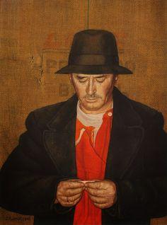 Jopie Huisman, self portrait
