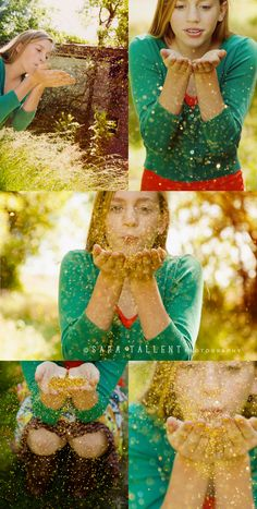 Fun with glitter! Photo shoot in a field with glitter, tons o fun>>>© sara tallent photography