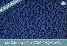 The Chevron Moss Stitch is a relatively easy knitting stitch, combining knit and…