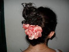 Rosa de tecido para cabelo e roupas