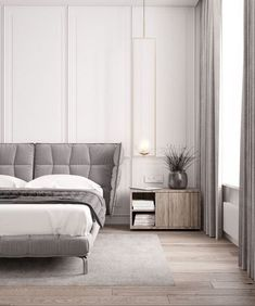 Inspirational ideas about Interior, Interior Design and Home Decorating Style for Living Room, Bedroom, Kitchen and the entire home. Curated selection of home decor products. Interior Design Bedroom, Interior Design, Wall Decor Bedroom, Bed Design, Bedroom Interior, Classic Bedroom, Modern Bedroom, Luxurious Bedrooms, Bedroom Wall