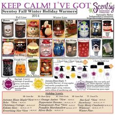 Scentsy Halloween 2014 Fall flyer with layers info and scents and Christmas info. Buy from me at https://aliciapreiss.scentsy.us/