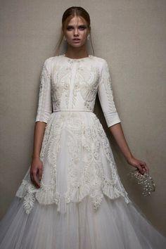 Chana Marelus FW 2014-15  tznius Modest Wedding Dresses 50573a5a2b76e
