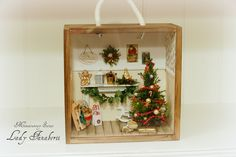 Christmas Miniature Scene Roombox with Christmas by MiniFanaberia