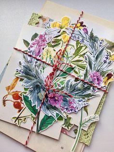 Floral Ephemera Pack junk journaling kit  collage kit paper