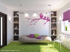 grey white and purple living room - Google Search