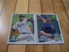 David Price Chris Archer 2014 Topps Opening Day Tampa Bay Rays 2 Card Lot | eBay