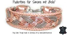 Luxus für Hunde 4 cm breit geflochten, Luxus für Hunde nach Maß, made by Gabi Weisner