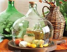 Resultado de imagen para artesanias con damajuanas de vidrio